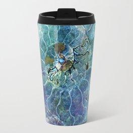 Aqua seashell -mother-of-pearl - Beautiful backdrop on #Society6 Travel Mug