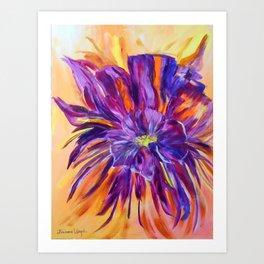 Abstract ochird Art Print