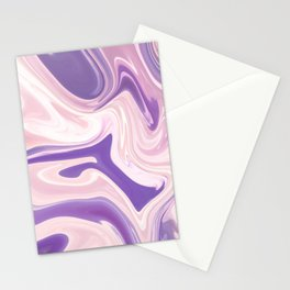 Lilac Marble Design Stationery Cards