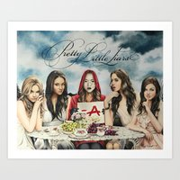 "pretty little liars Art Prints featuring Pretty Little Liars - ""Red Coat"" 