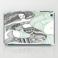 mermaids iPad Cases featuring Mermaids by winnie patterson