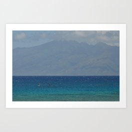 between the islands Art Print
