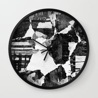 concrete Wall Clocks featuring Concrete by Carli