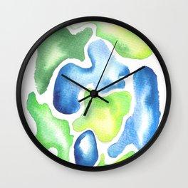 170623 Colour Shapes Watercolor 5 Wall Clock
