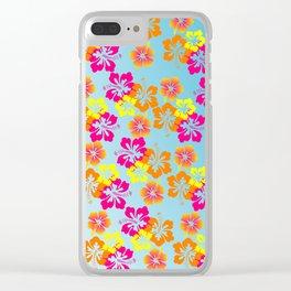 Flower Pattern Clear iPhone Case
