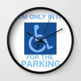 Parking Wall Clock