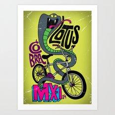 All My Bikes: 7, Lotus Cobra Art Print