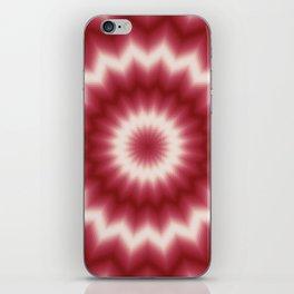 White and red, mandala iPhone Skin