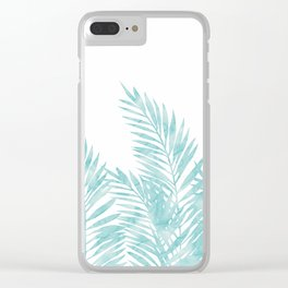 Palm Leaves Island Paradise Clear iPhone Case