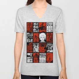 RED & WHITE - A nne Frankenstein Book I - Resurrection Unisex V-Neck