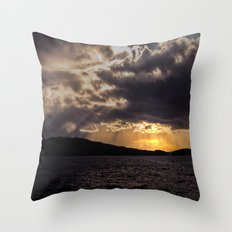 Dramatic change in the weather Throw Pillow