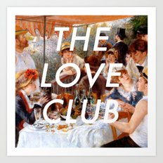 Luncheon with the Love Club Art Print