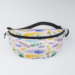 Jewel Tone Feathers Fanny Pack
