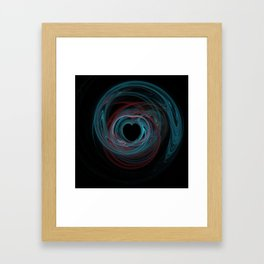 Valentine's Fractal IX - Dark Framed Art Print