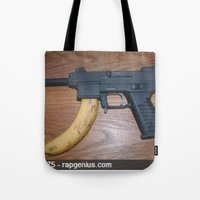 rap Tote Bags featuring Rap Genius by grimelords