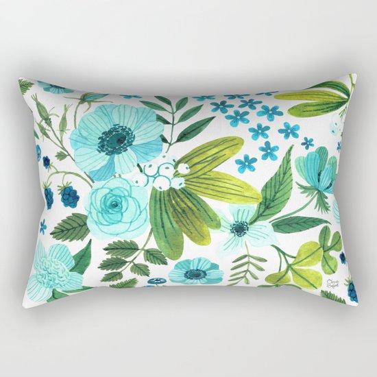 FLORA BLUES Rectangular Pillow