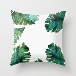 tropical Leaves NEW||| Throw Pillow