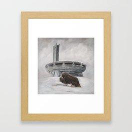 The Lone Musk Ox Framed Art Print