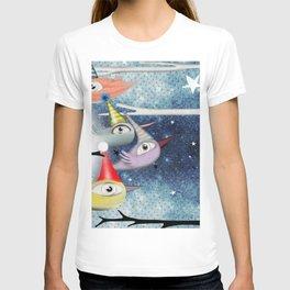 Birds following the stars T-shirt