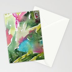Floral abstraction || watercolor Stationery Cards