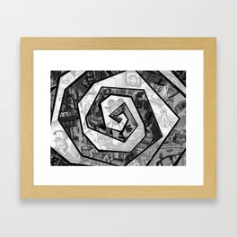 Past the madness... Framed Art Print