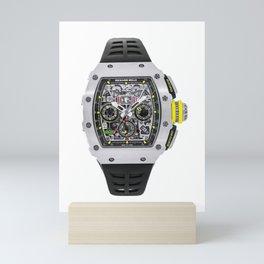 Richard Mille 11 Flyback Chronograph in Titanium on Black Rubber Strap with Skeleton Dial Mini Art Print