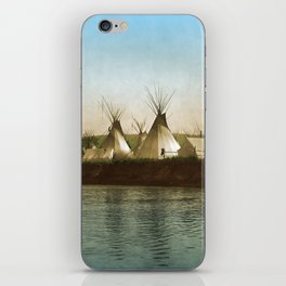 Crow Indian Camp on the Rivers Edge iPhone Skin