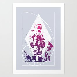 Purple Astronaut  Art Print
