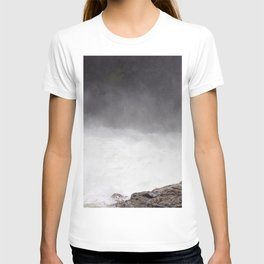 Mist Rising From the Rapids, Churning Water, Fast Moving River T-shirt