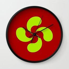 Lauburu 10 - croix basque -turbine,helice, cross. Wall Clock