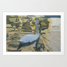 Reflections on a Burano canal Art Print