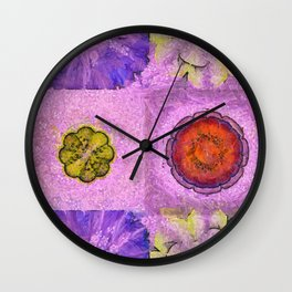 Blowess Make-Up Flowers  ID:16165-113145-47260 Wall Clock