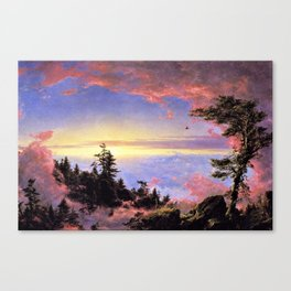 New England - Above the Clouds at Sunrise by Frederic Irwin Church Canvas Print