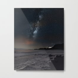 milky way Galaxy beach Metal Print