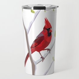 Geometric Cardinal Travel Mug