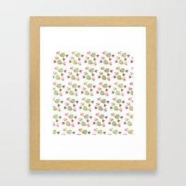 Three Fruit Combo Pattern Framed Art Print