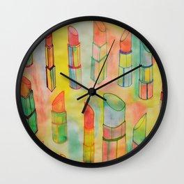 Watercolor Lipstick Wall Clock