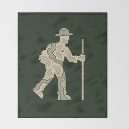 The Outdoorsman Throw Blanket