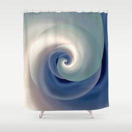 whirlwind abstract 3D digital art Shower Curtain