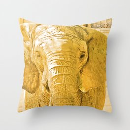 "Elephant, ""luck"". Throw Pillow"