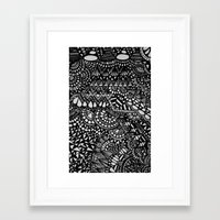 zentangle Framed Art Prints featuring Zentangle by Maria Gracia