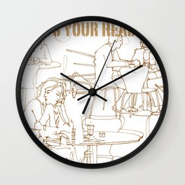 wheres your head Wall Clock