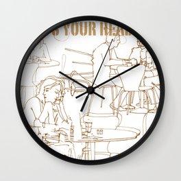 wheres your head Wall Clock
