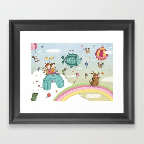 CANDIES WORLD Framed Art Print