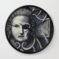 gothic Wall Clocks featuring Gothic by Chris Kitzmiller