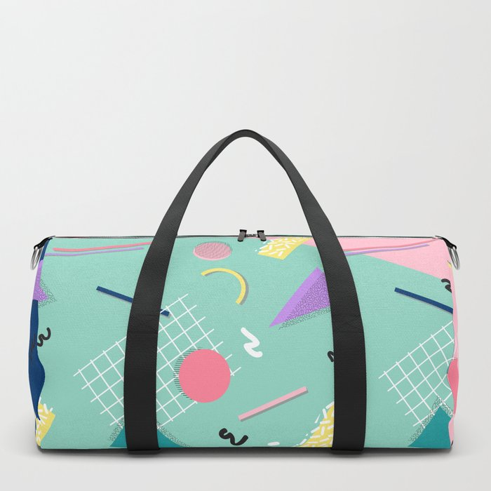 Dreaming 80s Pattern #society6 #decor #buyart Duffle Bag
