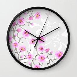 Japanese Cherry Flowers Wall Clock