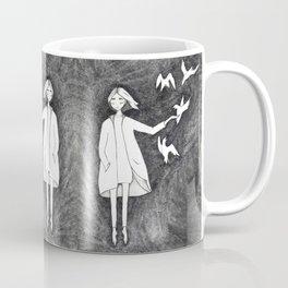 Fly with birds Coffee Mug