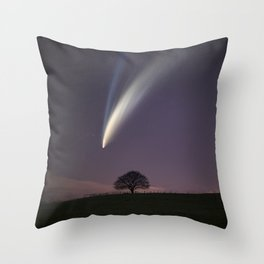 Comet 'Neowise' Throw Pillow