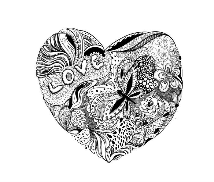 Floral heart for Valentines day Metal Travel Mug